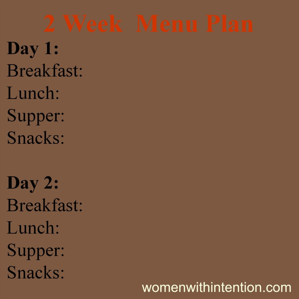 Meal Planning For 14 Days Of No Spending