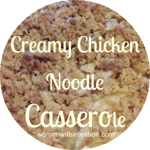 Creamy Chicken Noodle Casserole.  All 5 of the kids loved this.  That is unheard of!