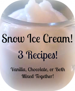 Are you snowed in and looking for something fun and tasty? Snow ice cream might be just want you need! Here are 3 snow ice cream recipes!