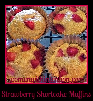If you are a fan of strawberries and muffins, these little delights are perfect for you!  All 5 of my kids gave them a thumbs up!