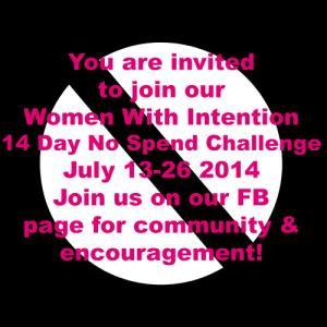 July 2014 No Spend Challenge