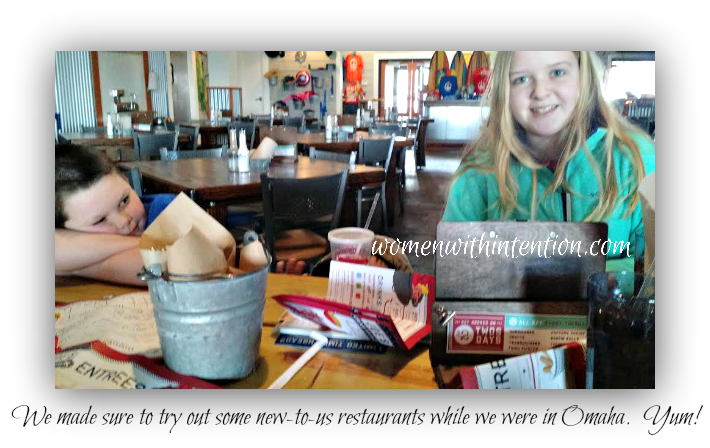 We tried out several new-to-us restaurants while on our trip to Omaha.  Yummy!