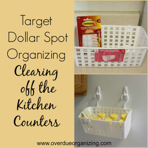 A quick & inexpensive way to free up counter space {OverdueOrganizing.com}