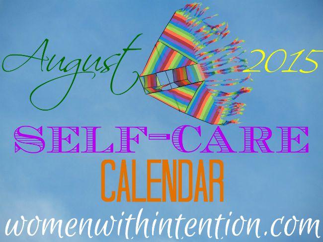 August 2015 Self-Care Calendar