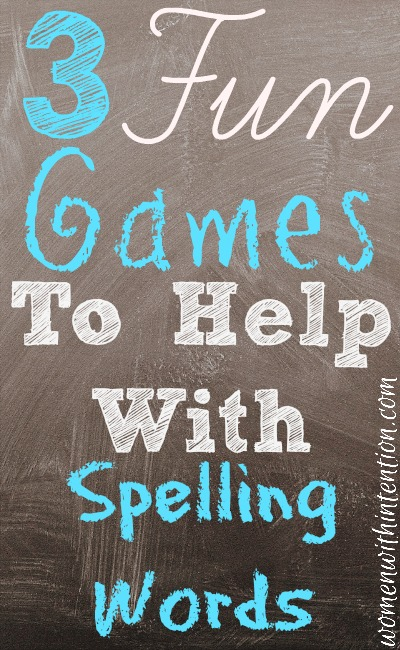 3 Fun Games To Help With Spelling Words
