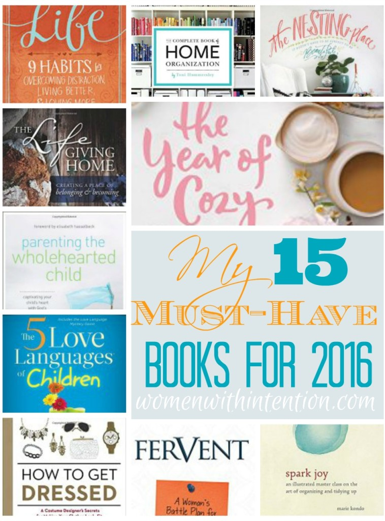 My 15 Must-Have Books For 2016