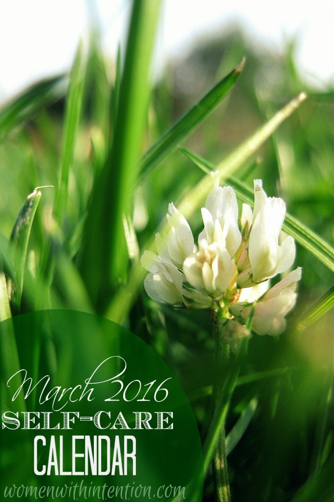 March 2016 Self-Care Calendar