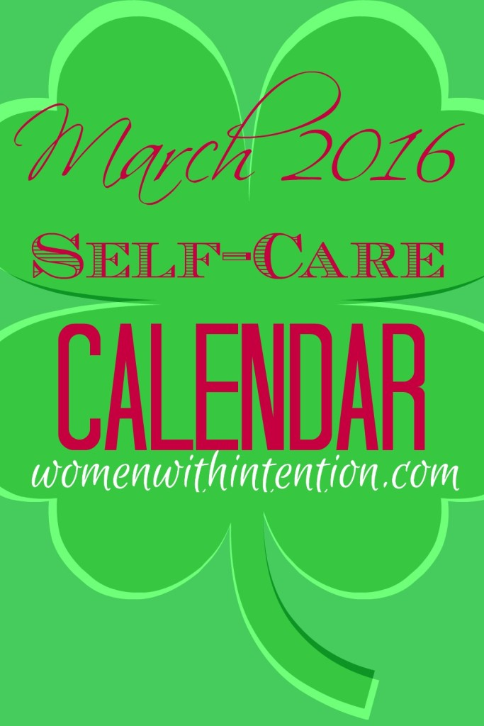 Do you struggle taking care of yourself after you take care of your job, family, and friends? Are you sick and tired of being sick and tired? Don't worry! In less than 15-30 minutes today you can focus on your own self-care needs with the FREE March 2016 Self-Care Calendar! Quit feeling guilty about knowing you should be taking better care of yourself when you can for free in just a few minutes each day with these quick challenges!