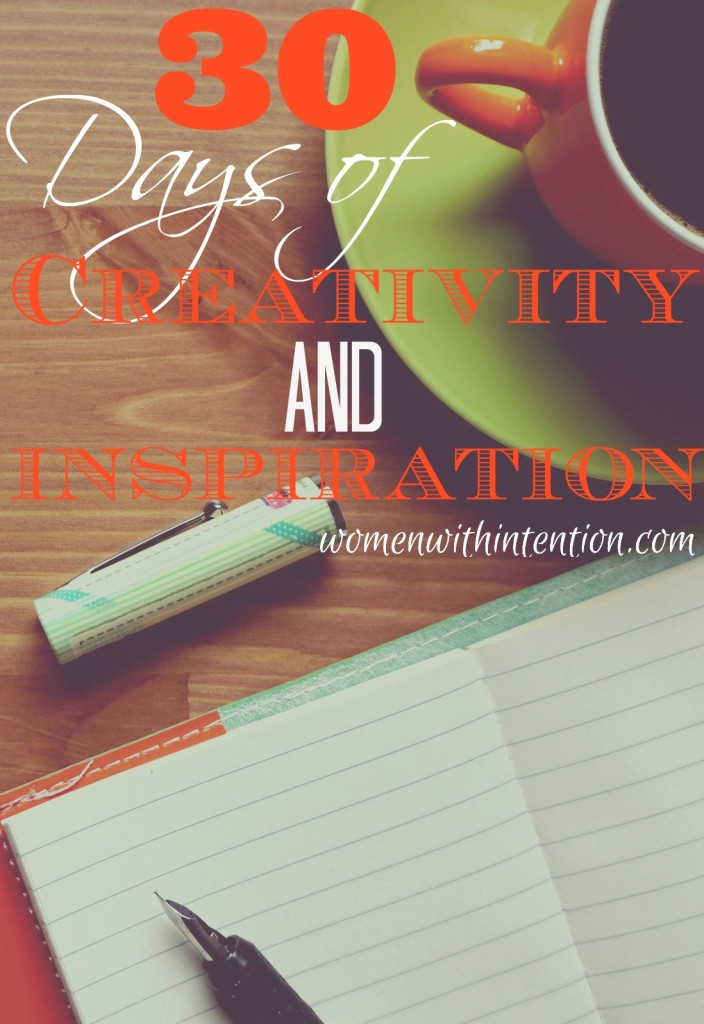 30 Days Of Creativity And Inspiration: My April Mini-Challenge