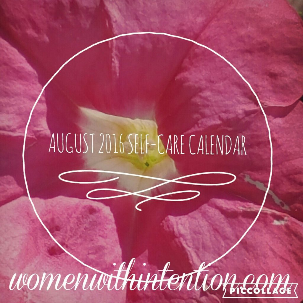 August 2016 Self-Care Calendar