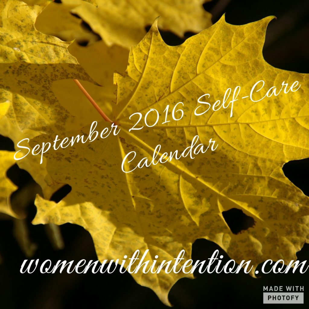 September 2016 Self-Care Calendar