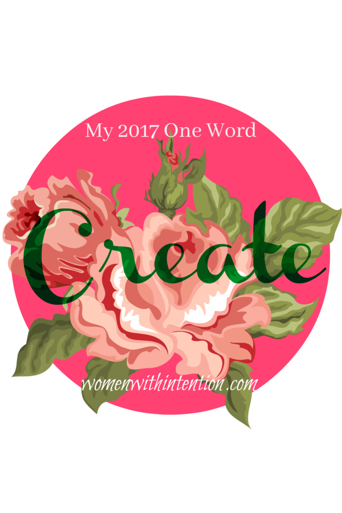 "5 years ago I began experimenting with One Word 365. I love the concept of choosing One Word to define your upcoming year.  This year I chose ""CREATE"" as my One Word.  Come see how I will be using the word create in 2017"