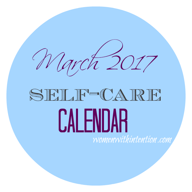 March 2017 Self-Care Calendar